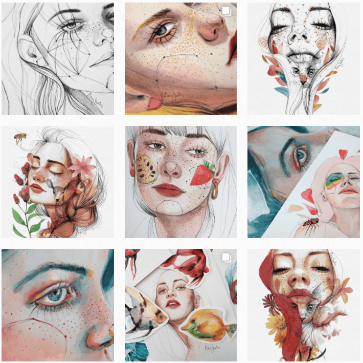 Ana santos ilustradora en instagram