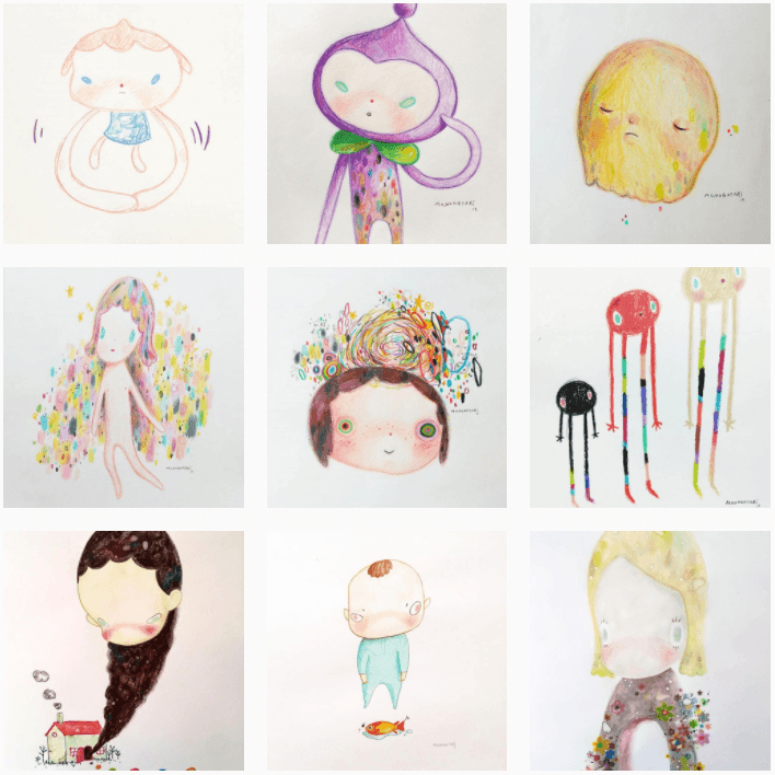 Dibujante en instagram monogatari.art