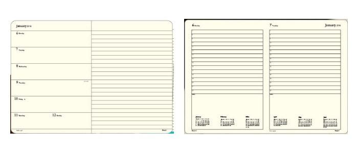 Agendas Leuchtturm1917 diferentes modelos, dia por página y semana vista
