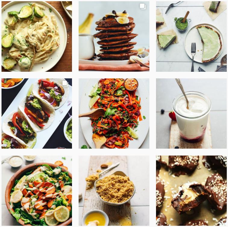 Comida en instagram minimalbaker