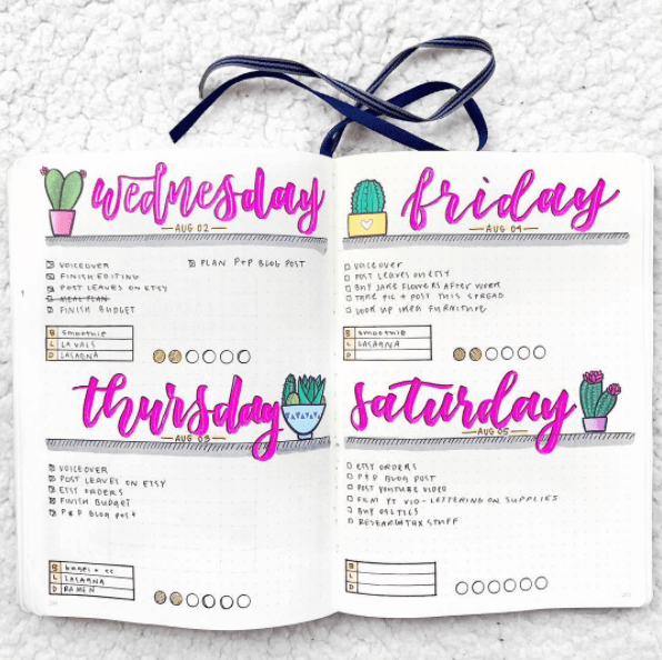 registro diario bullet journal como se hace