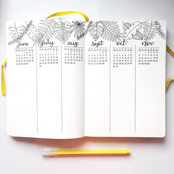 registro futuro Bullet Journal