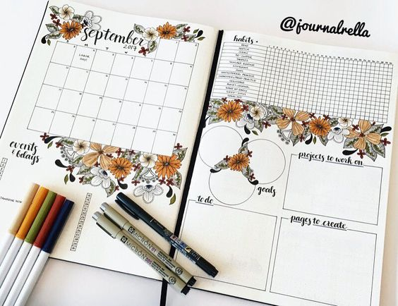 registro mensual en bullet journal como se hace