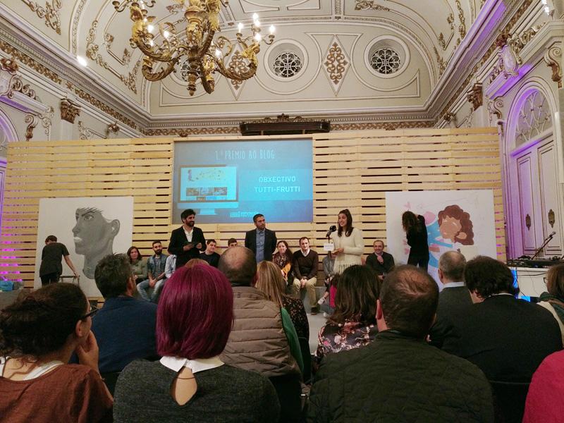 Primer premio en la categoría de blogs Premios a la juventud de la diputación de pontevedra