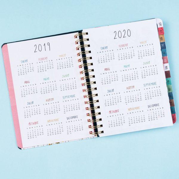 agenda maria hesse 2019 2020 tan tan fan calendario anual