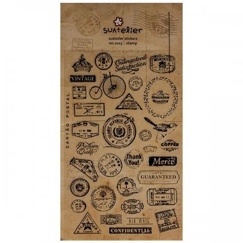 pegatinas transparentes para decorar agendas o scrapbookin de sellos vintage