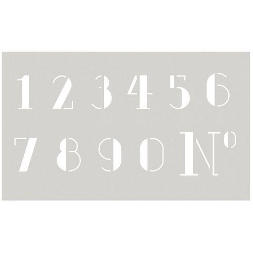 Plantilla de números grandes elegantes