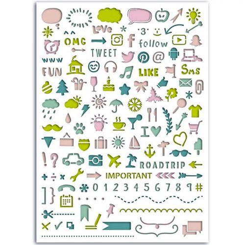 plantillas para bullet journal de iconos y dibujos bonitos